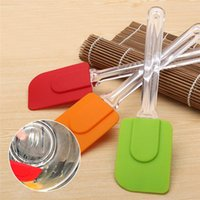 baking toppings - Top Seller Spatula Scraper Butter Spreader Baking Pastry Tools Silicone Plastic Handle Size cm JA46