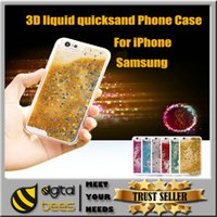 Wholesale For samsung s7 edge case New Hot selling luxury glitter stars dynamic liquid quicksand phone case cover for Iphone galaxy S6 note5