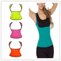 Wholesale 2015 Ultra Sweat Sport Weight Loss Waist Training Corsets Neoprene Hot Shapers Waist Trainer Gym Fitness Slimming Exercise Tank Top