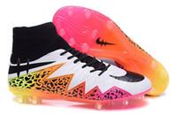 american football shoe - American soccer cleats superflys men s football boots boy football shoes Hypervenom sports shoes voetbalschoenen men cleats pink white black