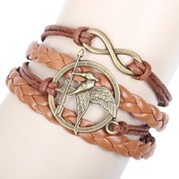 animal pc games - Hunger Games Infinity Bracelets Multi Layer Braided Leather Handmade Combination Pattern Colorful Charm Bracelets