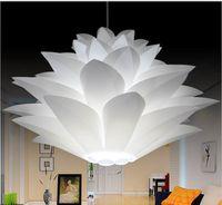 Wholesale Novelty Lotus IQ lights Puzzle lamps creative novel DIY Modern PP PVC Pendant light lotus led e27 iq puzzle lamp
