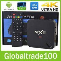 Cheap MXIII Amlogic S802 Android 4.4 TV Box Quad Core Octa Core 2.0GHz 2GRAM 8GB Smart TV Receiver IPTV Media Player 4K XBMC Free DHL Shipping