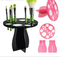 air brush cosmetics - New Makeup Brushes Holder Stand Collapsible Air Drying Makeup Brush Organizing Tower Tree Rack Holder Cosmetic Tool