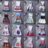china clothes - 2016 Summer Causal Women Dresses Sleeveless Vintage Print For Party Sexy Club Dresses Cheap Clothes China Beach Bodycon Dress