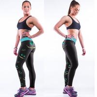 Precio de Polainas de la impresión de poliéster-exy Mujeres 3D mallas de impresión elástico de cintura alta Gym Yoga Pantalones de yoga Mujer de poliéster aptitud