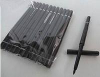 al por mayor lápiz de ojos del maquillaje-12pcs / lot ENVÍO LIBRE de la marca de fábrica del maquillaje del lápiz labial negro retractable rotatorio del lápiz de la pluma del eyeliner