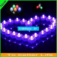 Wholesale Romantic Underwater Lights Candle Lights Submersible Waterproof led Tea Lights Sub Lights Battery LED Tea Light Waterproof Night Light