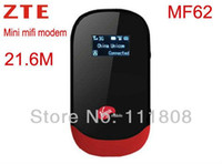 Cheap New Unlocked Wireless Wifi 4G Modem ZTE MF62 Mifi Wifi 21.6Mbps 3G Router 150Mbps 5 Users Support 1500MAH Battery