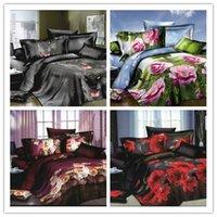 Cheap 3d bedding set flower,animal Bedspread comforter cotton bedding sets,bedding-set,duvet cover,bed sheet,4 pcs quilt queen king