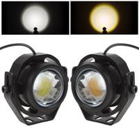 Wholesale 2 Inch V V LM W LED Eagle Eye Car Fog Daytime Running Reverse Backup Parking Signal Light Lamp CLT_428