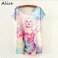 alice owl - Alice Hot Fashion Vintage New Spring Summer Harajuku Women T shirt Clothing Tops tees Monroe owl tower Print T shirt