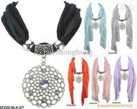 Cheap 2015 New Scarf Women Feminino Hijab Jewelry Pendant Necklace Womens Diamond Flowers Fashion Jewellery Scarves Dhl Free 12pcs