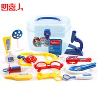 Wholesale Doctora Juguetes Bottled Doctor Sets Children s Play Toys Simulation Medicine for baby Health Care Toolbox