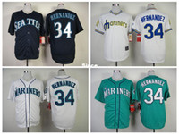 best coolers - 30 Teams Seattle Mariners Baseball Jerseys Felix Hernandez Jersey Black White Blue Blank Cool Base Stitched Best Qualli