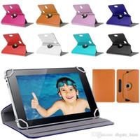Hot Sales Tab Case 360 Tourner Housse de protection en cuir Housse pour cas universel PC 7