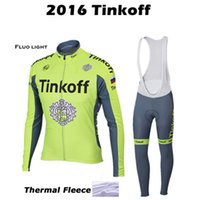 bicycle clothes - Ropa ciclismo Fluo light tinkoff Pro team winter Cycling jersey Bicycle clothing Mountain Bike MTB maillot ciclismo invierno