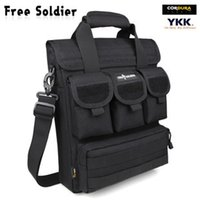 acu computer bag - Free Soldier Outdoor Tactical Bag Outdoor Camping Men Handbag Multi Function Expansion Pack Computer Black Muddy ACU