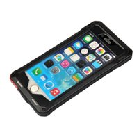 Cheap For Apple iPhone 6 4.7 inch Screen Dustrproof Shockproof Aluminum & Silicon Metal Frame Case (Black)