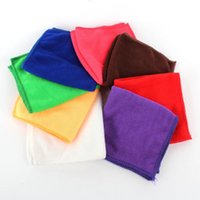 Wholesale Soft Microfibre Travel Swim Beach Gym Colorful Solid Cozy Cleaning Cloths x25cm