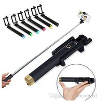 alloy holsters - Bluetooth Self Timer Extendable Handheld Selfie Monopod selfie stick Photograph Camera remote control with holster retail box