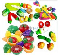 Wholesale Hot Selling Children Kitchen Toys Funny Cutting Fruit Vegetable Pretend Toys Colorful Toys for Kids Let s Play House