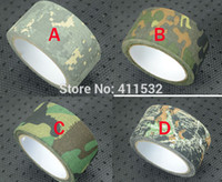 Wholesale 1pc m cm bionic camouflage tape hunting paintball cs war game airsoft tape