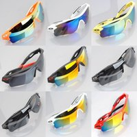 Wholesale Cycling Prevent Ultraviolet Ray Bicycles Bike Sport Sunglasses Riding Eyewear Colors Road Cycling Glasses Outdoor