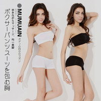 basic networking - Mumuin basic tube top tube top boxer panties set network well seamless breathable soft around the chest female