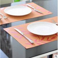 Wholesale Classic Western Pad Pvc Placemat Dining Table Mat Heat Insulation Pad Slip Resistant Pads Placemat Insulation Pad Table Mat Bowl Placemat