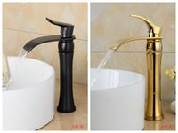 bathroom facuets - Newest styel bathroom tall faucet oil rubbed bronze and gold finish facuets washbasin waterfall tap mixer