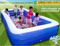 inflatable bathtub for adults - Large thickening adult swimming pool for family children inflatable bathtub baby play pool