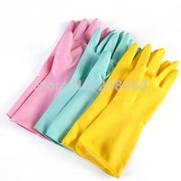 long rubber gloves - Pure Rubber Gloves Long Latex Household Gloves Cleaning Glove For Car Kitchen Tools ST140701701 mix order usd