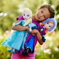 Wholesale 2014 New Frozen Doll Frozen Plush Toys cm Princess Elsa Anna Plush Doll Brinquedos Kid Dolls for Girls Christmas gift