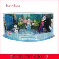 Wholesale 4set Frozen Piece Figurine Playset Action Figure Play Set Anna Elsa Hans Kristoff Sven Olaf Free Fast Shipping