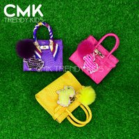 and bag - CMK KB123 New Arrived Mini Birki Bags Colors Python PU Leather with Sheep Shape Keychain and Strap kids bags girls bag