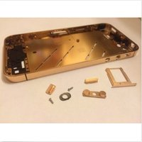 apple finish - 24K ct kt Gold Plating Plated Mirror Finished Housing For iPhone S G GS Middle Frame Bezel Chassis Faceplates iphone4S Abu Dhabi