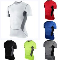 base layer - 2015 Mens Compression Bodycon Armour SUmmer shirts sports Top base layer sport new
