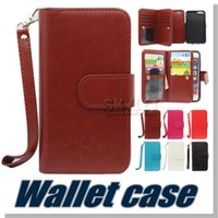 Cheap For Samsung Note 7 Case Multi-Function Wallet Case PU 9 Card Slot Case For Iphone 6S 5S Samsung Note 5 with Opp Package 50PCS
