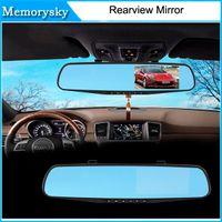 Cámaras de lentes de porcelana Baratos-Espejo del coche DVR de doble cámara de 4,3