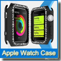 Wholesale iWatch Cases Diamond Colorful Crystal Cover Transparent TPU Case Protective Coverings Shell Skins for Apple Watch mm mm New