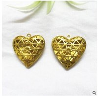 Wholesale love locket Pendant valentine Days Gifts Hollow Out locket Charms Heart Lockets mm Copper Necklace Pendants Womens Jewelry Gifts