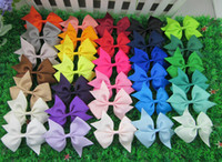 Wholesale inch high quality grosgrain ribbon hair bows children hair accessories baby hairbows girl hair bows WITH CLIP