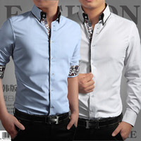 Wholesale New Fashion men long sleeve shirts men dress shirt men shirt Men s Clothing