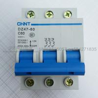 Wholesale breaker DZ47 P C60 miniature circuit breaker A household protector