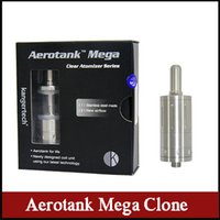 Wholesale Aerotank Mega clone ml upgraded Dual coil Adjustable atomizer AeroTank Airflow control Clearomizer for ego battery