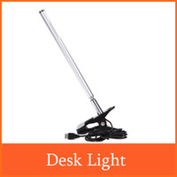 Wholesale For Study Reading Office Work New LED USB Desk Light Table Lamp Touch Sensitive Adjustable Foldable Clip Lighting Warm White