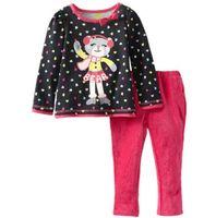 bear long bow - 2015 Autumn Long Sleeve Children Suit Little Bear Loving Heart Kids Clothing Sets Cotton Leisure Suit For Little Girls M T K410