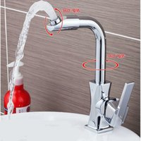 Wholesale New Arrival Polished Chrome Degree Rotation Kitchen faucet Swivel Body and Swivel Spout Kitchen Tap Hot and Cold Basin Mixer