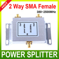 Wholesale 2 Way SMA Power Splitter MHz SMA power divider booster accessory mobile phone booster splitter booster divider